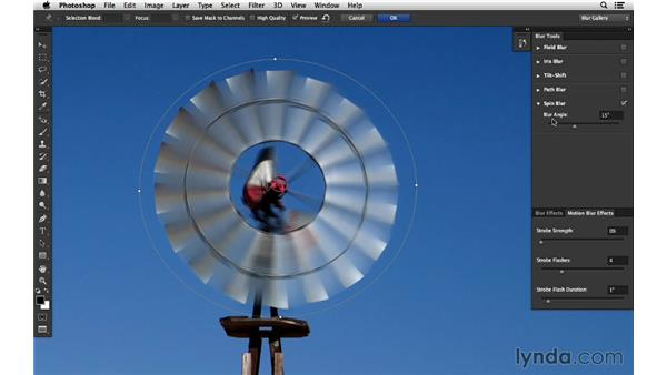 Adding a motion blur effect with Spin Blur: Photoshop for Photographers: 2014 Creative Cloud Updates