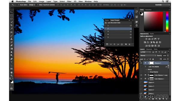 Improved layer comps workflow: Photoshop for Photographers: 2014 Creative Cloud Updates