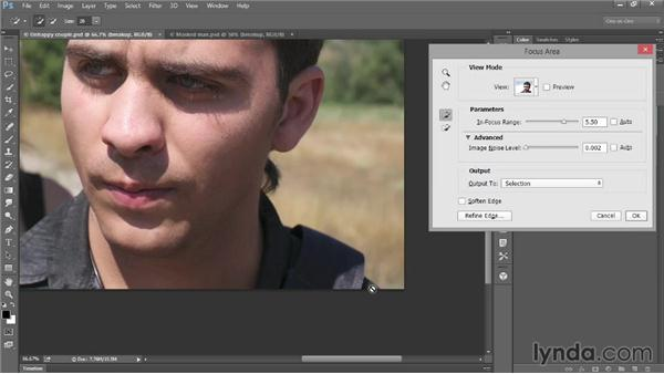 Selecting in-focus areas of a photo: Photoshop: 2014 Creative Cloud Updates