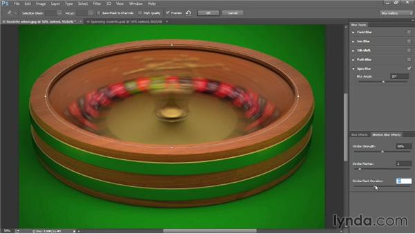 Adding elliptical motion with Spin Blur: Photoshop: 2014 Creative Cloud Updates