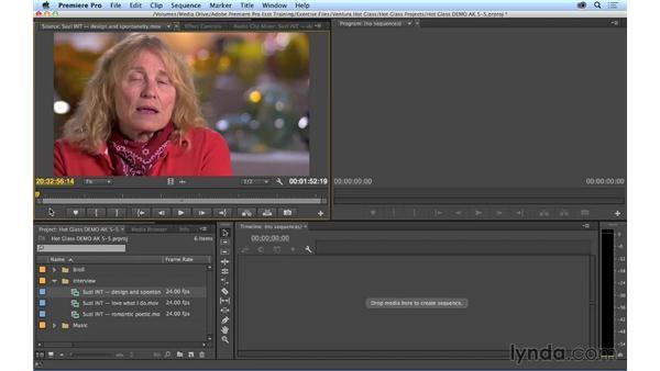 Selecting shots: Premiere Pro CC Essential Training (2014)