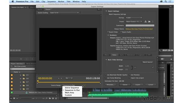 Outputting the project: Premiere Pro CC Essential Training (2014)