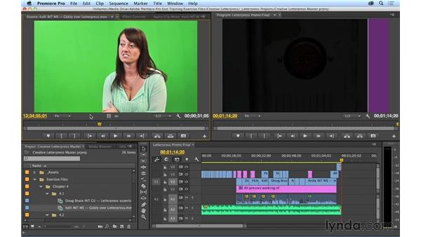 Playing and marking shots in preparation for editing: Premiere Pro CC Essential Training (2014)