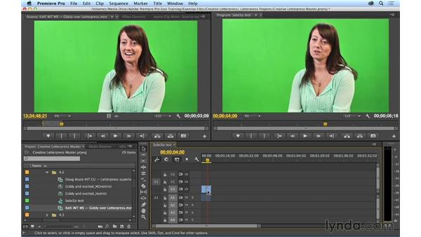 Subclipping shots: Premiere Pro CC Essential Training (2014)