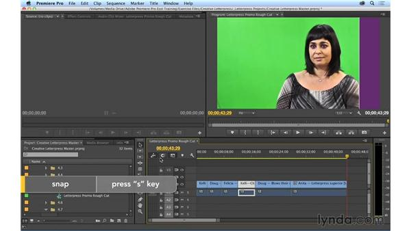 Moving clips and swapping shots: Premiere Pro CC Essential Training (2014)