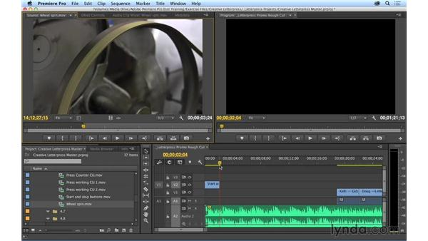 Performing overwrite edits and understanding three-point editing: Premiere Pro CC Essential Training (2014)