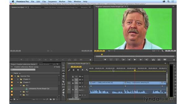 Trimming shot length using the Ripple tool: Premiere Pro CC Essential Training (2014)