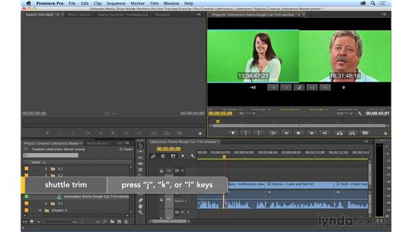 Using the Trim Monitor window: Premiere Pro CC Essential Training (2014)