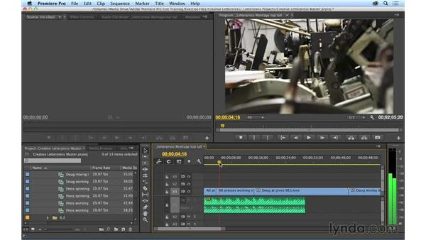 Performing top and tail edits: Premiere Pro CC Essential Training (2014)