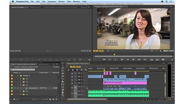 Understanding track monitoring and locking: Premiere Pro CC Essential Training (2014)