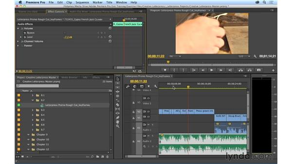 Keyframing audio: Premiere Pro CC Essential Training (2014)