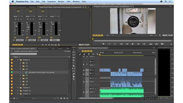 Basic audio mixing: Premiere Pro CC Essential Training (2014)