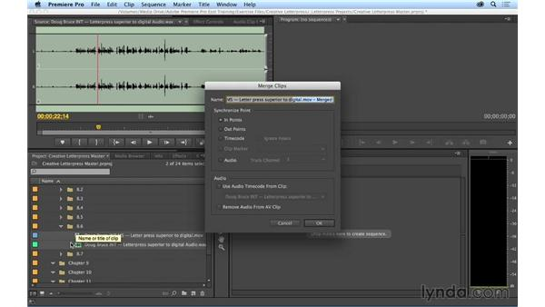 Syncing your video to high-quality audio: Premiere Pro CC Essential Training (2014)