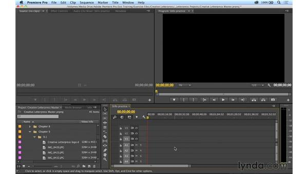 Working with stills in a video environment: Premiere Pro CC Essential Training (2014)