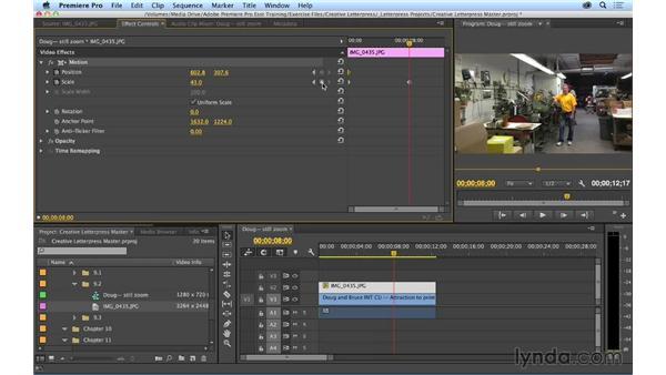 Animating stills: Premiere Pro CC Essential Training (2014)