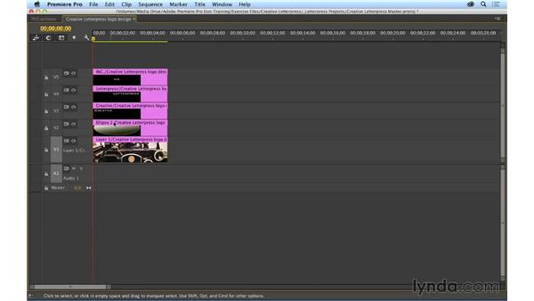 Working with layered Photoshop documents in Premiere Pro and Photoshop: Premiere Pro CC Essential Training (2014)