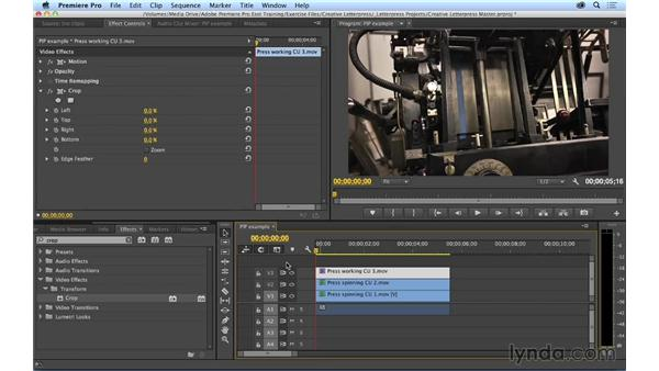 Working with basic motion effects: Premiere Pro CC Essential Training (2014)