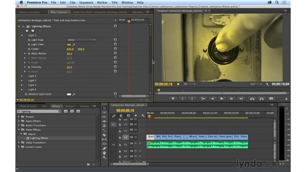 Adding, modifying, and saving video filters: Premiere Pro CC Essential Training (2014)