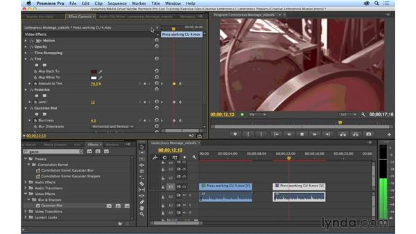 Keyframing video and audio effects over time: Premiere Pro CC Essential Training (2014)