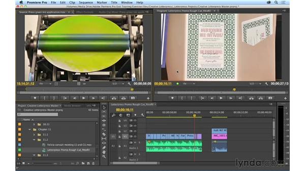 Using fit-to-fill editing: Premiere Pro CC Essential Training (2014)