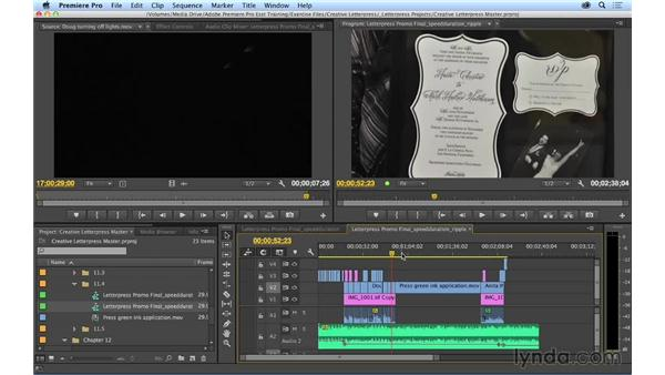 Working with the Clip Speed/Duration window to make precise speed changes: Premiere Pro CC Essential Training (2014)
