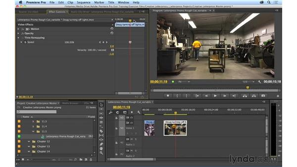 Making variable speed changes: Premiere Pro CC Essential Training (2014)