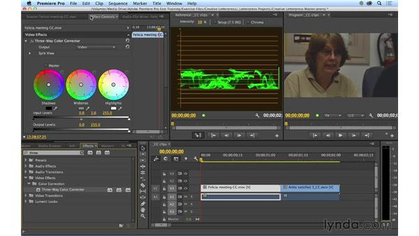 Color correcting master clips: Premiere Pro CC Essential Training (2014)