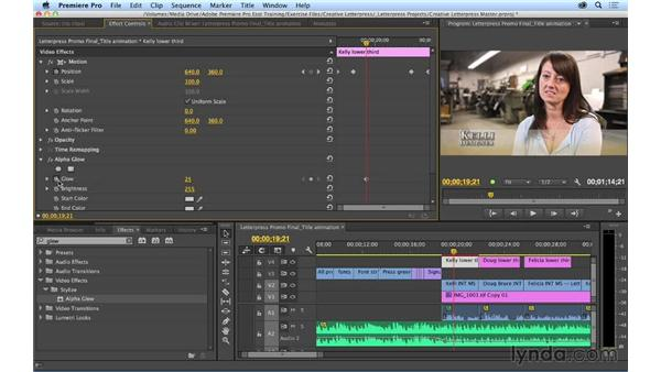 Applying animation to titles: Premiere Pro CC Essential Training (2014)