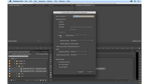 Syncing your multicam group clips: Premiere Pro CC Essential Training (2014)