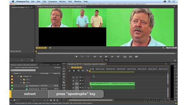 Performing a multicam edit: Premiere Pro CC Essential Training (2014)