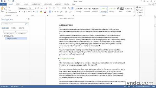 Applying styles: Word 2013 Power Shortcuts