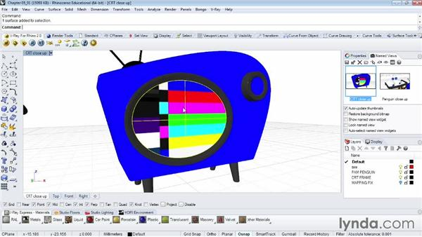 Texture mapping materials with bitmaps: Rendering Fundamentals with Rhino and V-Ray