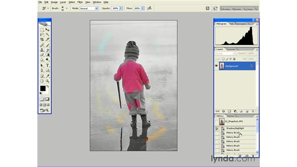 Painting with History States and Snapshots: Photoshop CS2 Essential Training