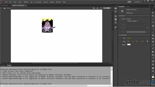 Exporting animations to the WebGL format: Flash Professional: Creative Cloud Updates