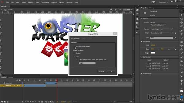 Exporting artwork in the SVG format: Flash Professional: Creative Cloud Updates