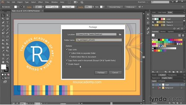 Packaging your artwork for commercial print: Illustrator CC Essential Training (2013)