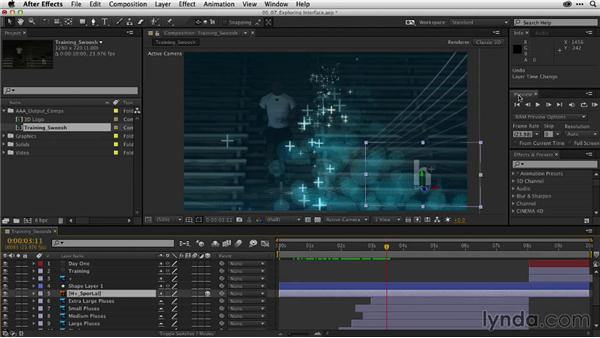 Exploring the interface of After Effects: After Effects CC Essential Training