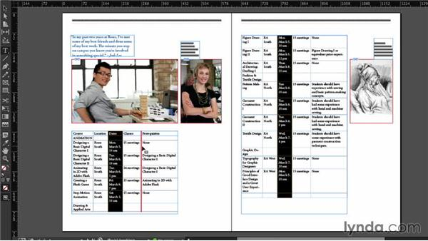 Moving rows and columns (CC 2014): InDesign CC Essential Training (2013)