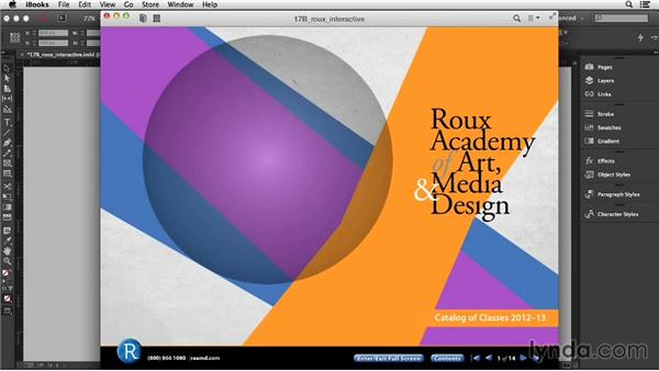 Exporting a fixed-layout EPUB (CC 2014.1): InDesign CC Essential Training (2013)