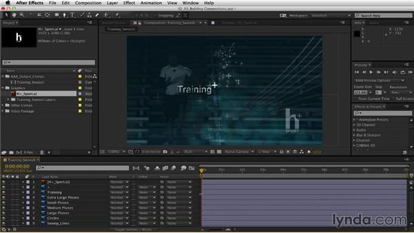Building compositions with layers: After Effects CC Essential Training