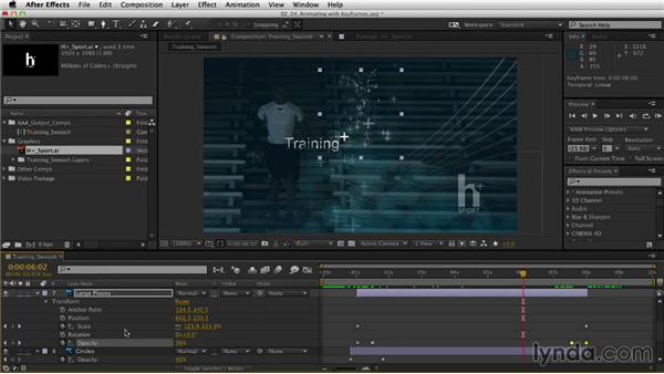 Animating with keyframes: After Effects CC Essential Training