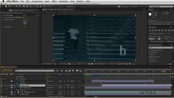 Adding effects and graphics: After Effects CC Essential Training