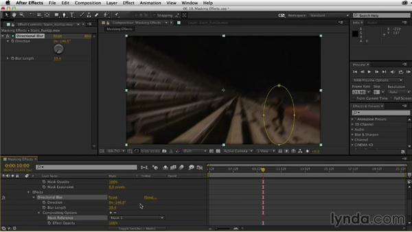 Masking individual effects: After Effects CC Essential Training