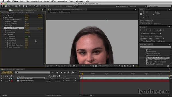 Refining your key with Keylight: After Effects CC Essential Training