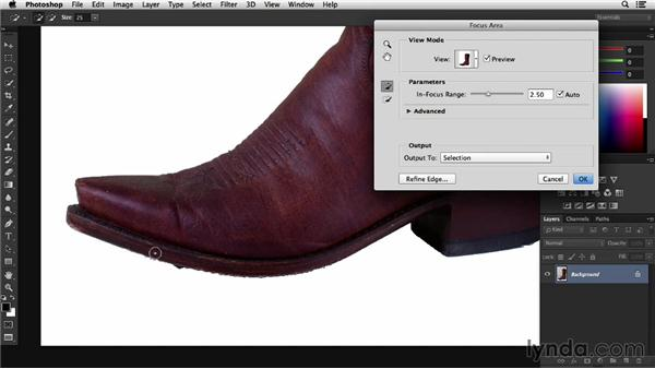 Selecting with Focus Mask: Photoshop CC Essential Training (2013)