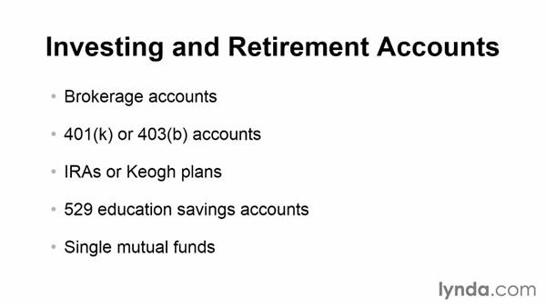 Understanding account types: Quicken 2014 Essential Training