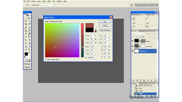 Using the Color Picker: Photoshop CS2 Essential Training