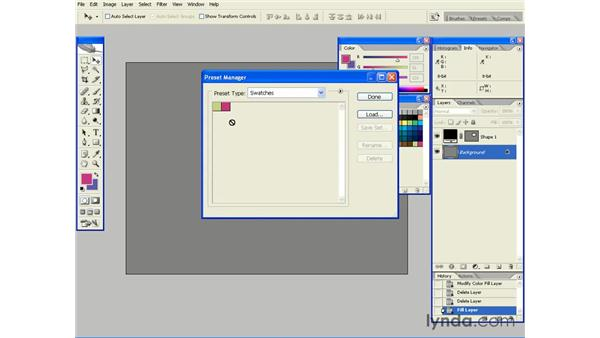Saving Custom Colors as Swatches: Photoshop CS2 Essential Training