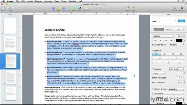 Creating lists: Pages 5 Essential Training