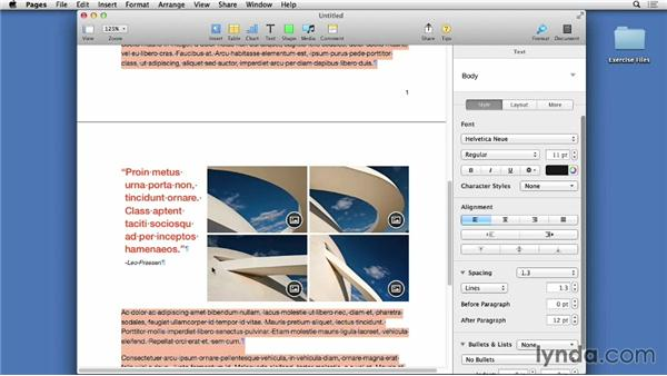 Template layouts: Pages 5 Essential Training